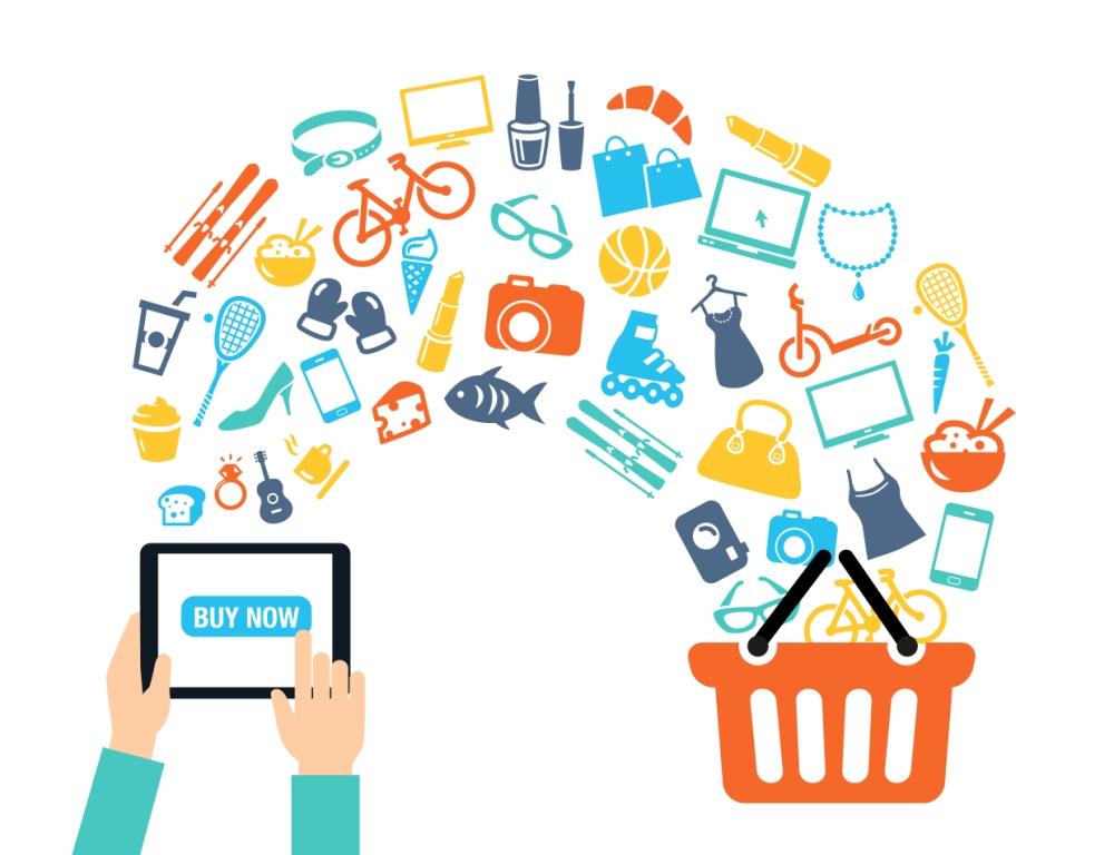 Online alışveriş arka plan